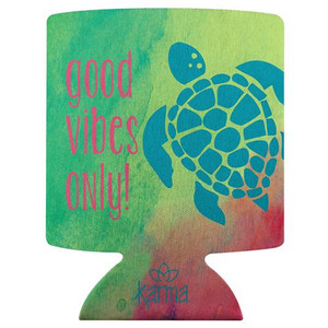 Good Vibes Sea Turtle Can Cooler Koozie