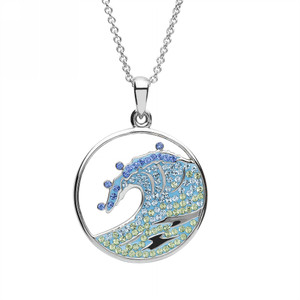 Blue Ocean Wave Necklace - ShanOre
