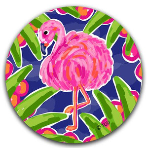 Flamingo Absorbent Car Coaster