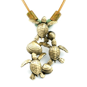 """Ocean in Motion"" Sea Turtle Hatchlings Necklace"