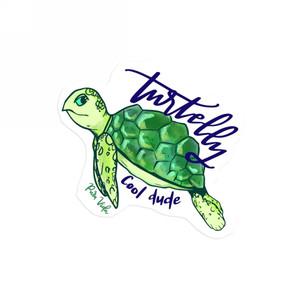 Turtelly Cool Sticker