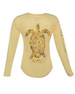 Ladies Long Sleeve Dri Fit Sea Turtle