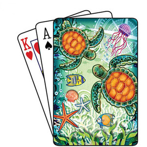 Sea Turtles Marine Life Playing Cards