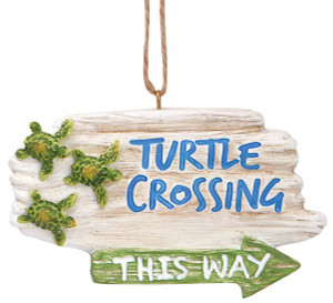 Turtle Crossing Ornament