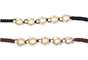 Macramé Bracelet with Ivory Turtle Beads