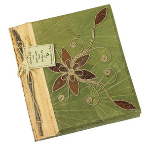 Teak Leaf Flower Design Notebook