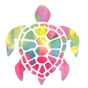 Sea Turtle Watercolor Decal