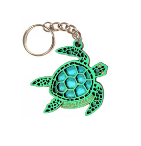Sea Turtle Wood Key Chain