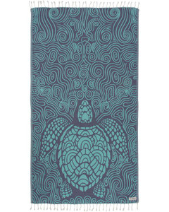 Mint Swirl Turtle Towel