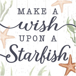 Make A Wish Upon A Starfish Wood Block