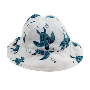 Sea Turtles Luxury Muslin Sun Hat
