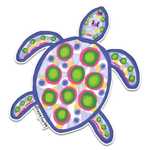 Blue & Pink Sea Turtle Decal