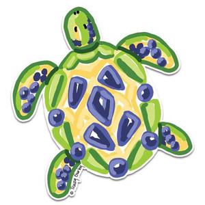 Blue & Yellow Sea Turtle Decal