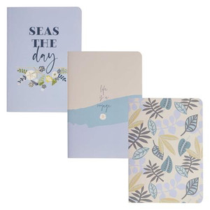 Coastal Pocket Notebooks - Set of 3