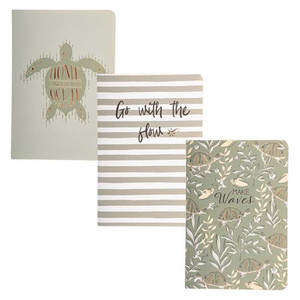 Sea Turtle Pocket Notebooks - Set of 3