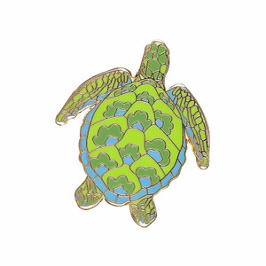 Blue Green Sea Turtle Enamel Pin