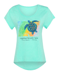 Bismuth Turtle Scoop Neck Ladies T-Shirt