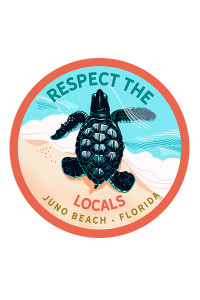 Respect The Locals Hatchling Sticker