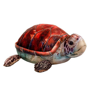 """The Real Ones 19"""" Sea Turtle Plush - Brown"""