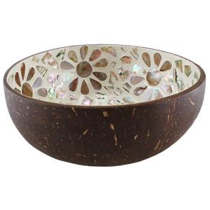 Coconut Bowl - Flowers
