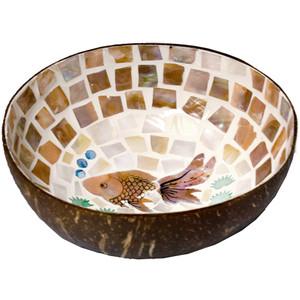 Coconut Bowl - Fish and Lotus