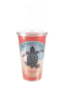 Respect The Locals Hatchling Acrylic Tumbler with Straw