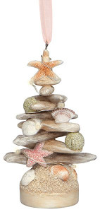 Driftwood Tree with Shells Light-up Ornament