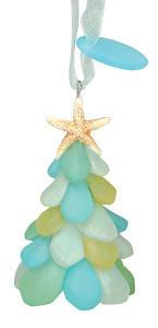 Sea Glass Tree Ornament
