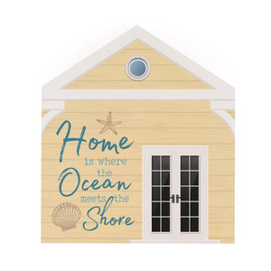 Home Is Where The Ocean Meets The Shore Word Block