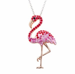Pink Flamingo Pendant in Sterling Silver