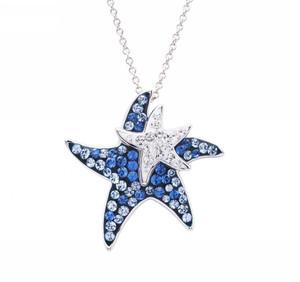 Aqua Mom & Baby Starfish Pendant