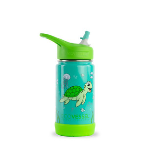 Ocean Turtle Kids Insulated Stainless Steel Water Bottle - 12 oz.