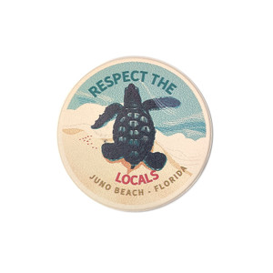Respect The Locals Hatchling Car Coaster