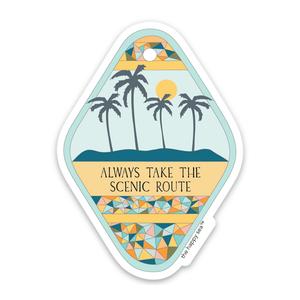 Take The Scenic Route Sticker