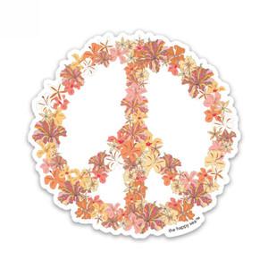 Hibiscus Peace Sticker