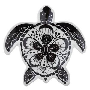 Black & White Sea Turtle Trinket Dish