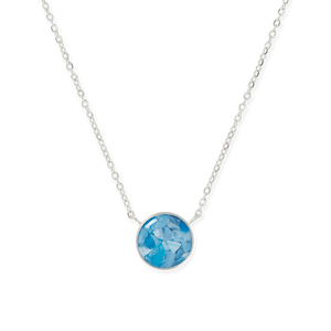 Recovered Ocean Plastic Sterling Silver Pendant Necklace