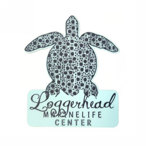 Crinkling Dot Sea Turtle LMC Sticker