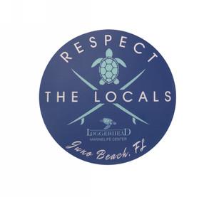Respect The Locals Surfboard Sticker