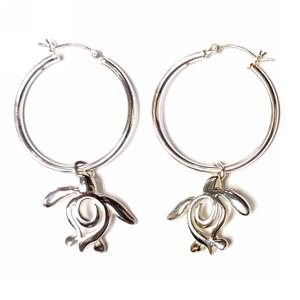 Ocean Traveler Hoop Earrings - Sterling Silver