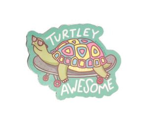 Turtley Awesome Skateboard Sticker