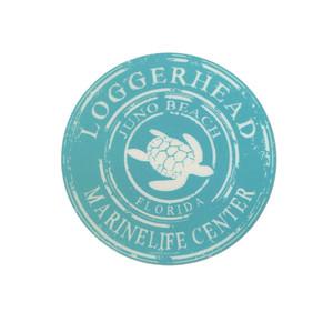 Coffee Ring Sea Turtle LMC Sticker