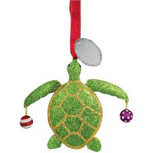 Glitter Metal Turtle Ornament