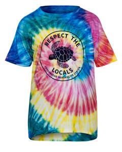 Respect The Locals Kids Tie Dye Short Sleeve Shirt