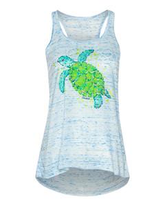 Sea Turtle Flowy Scoop Neck Tank