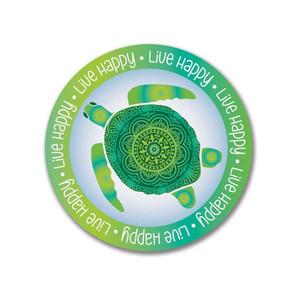 Live Happy Sea Turtle Sticker