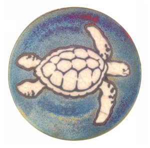 Raku Coaster - Sea Turtle