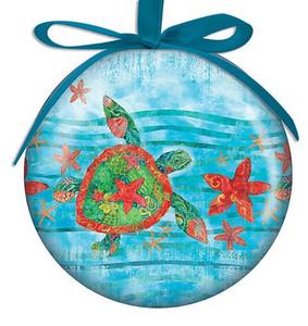 Watercolor Sea Turtle Ornament