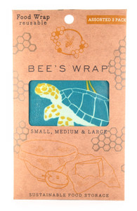 Sustainable Beeswax 3 Pack Bee's Wrap - Ocean Print