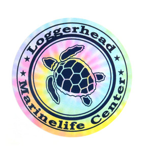Pastel Tie Dye Turtle Decal